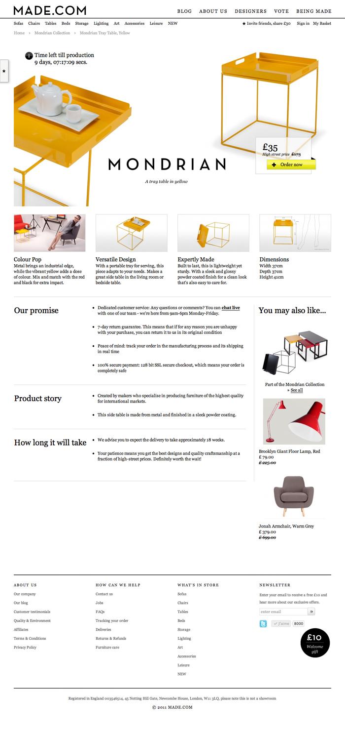 Made.com le site de mobilier et décoration design
