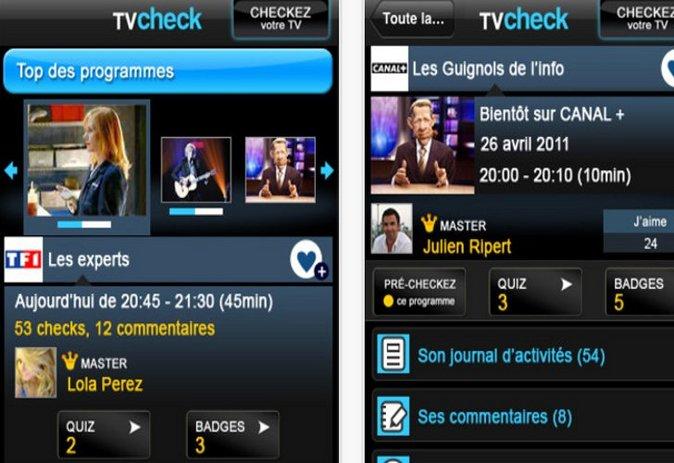 Tvcheck, c'est le foursquare télévisé